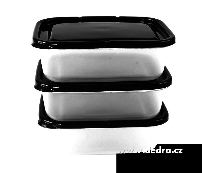 3 ks BOX 650 ml, černý