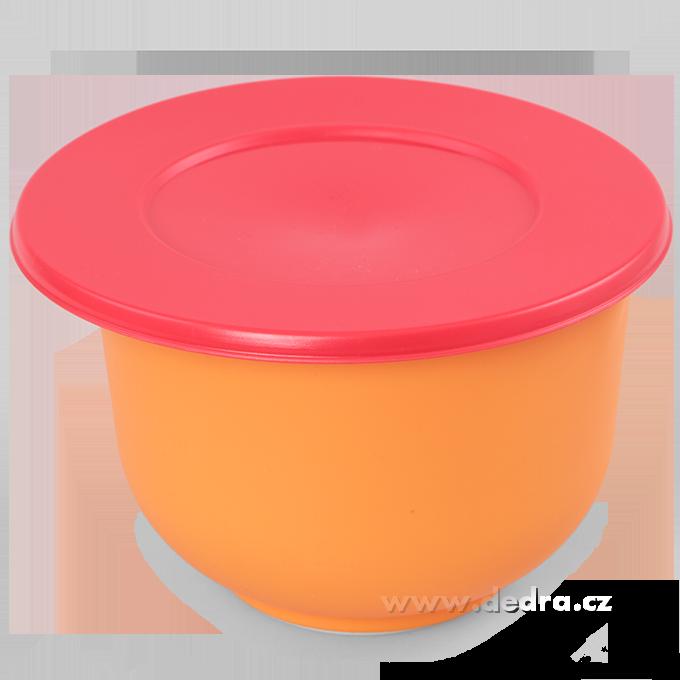 Kynoucí mísa s víkem 1500 ml oranžová