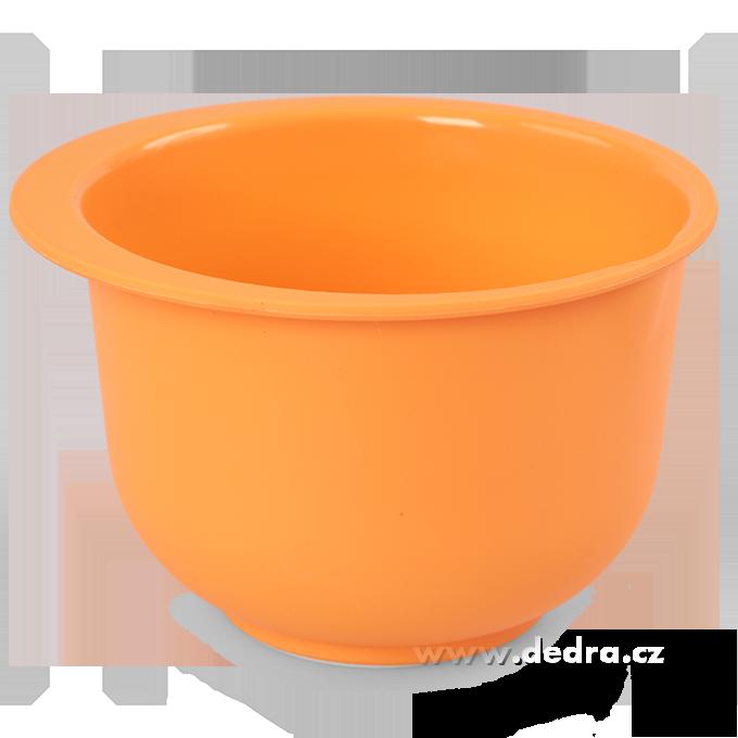 Kynoucí mísa na kvásek a rozkvas s víkem, 1500 ml oranžová