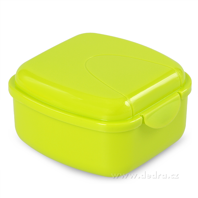 Svačinátor 350 ml zelený 10,5x10,5x6 cm