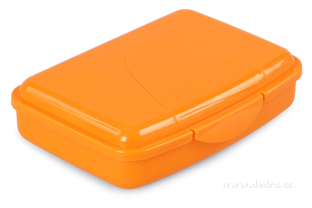 Svačinátor 350 ml oranžový 16x11x4 cm