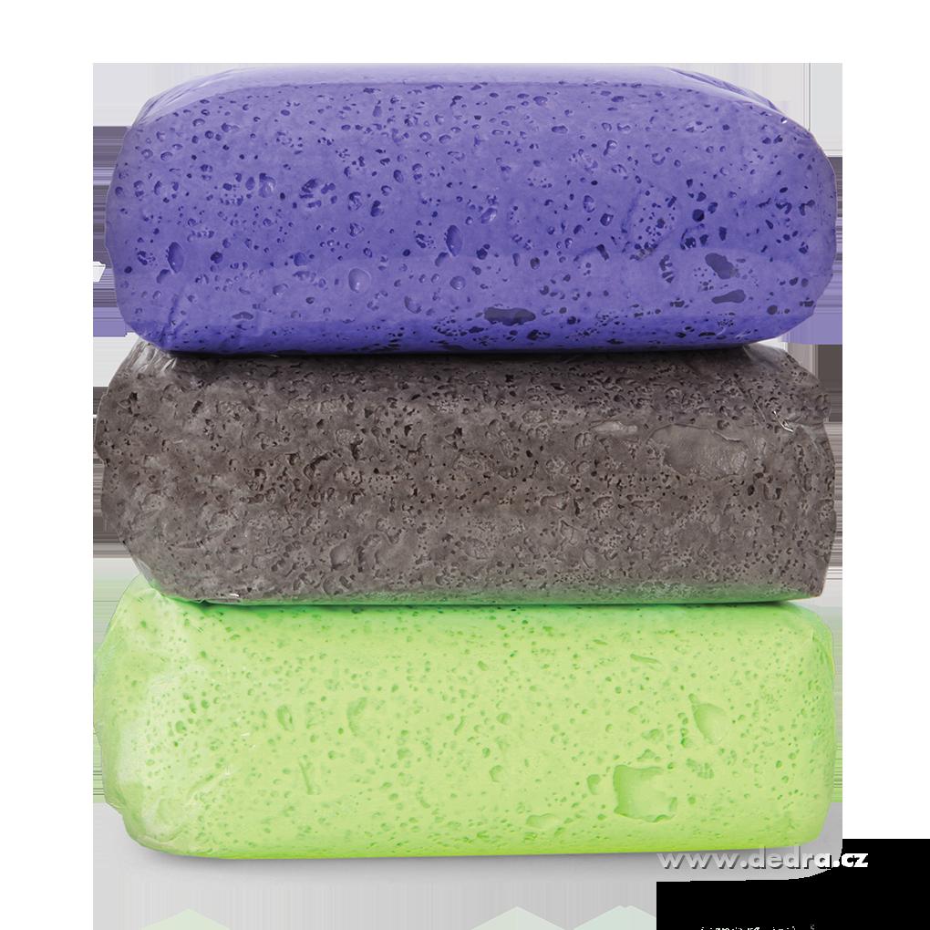 Sada 3ks náplní MUFI PAFTELÍNA fial-modrá/zel/šedá