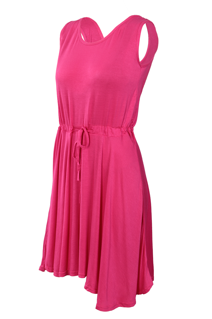 BRENDA vzdušné šaty, fuchsiové XS,S/M