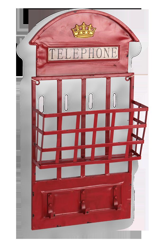Kovový závěsný věšák, TELEPHONE