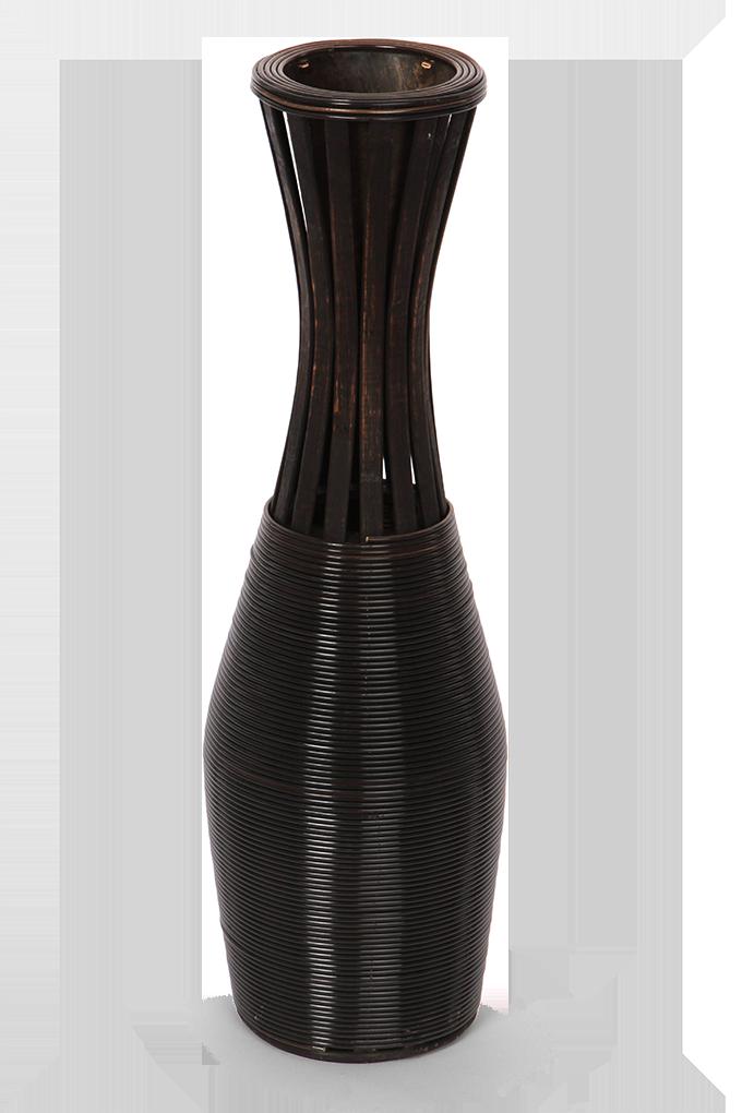 Váza  z bambusové dýhy výška 65,5 cm