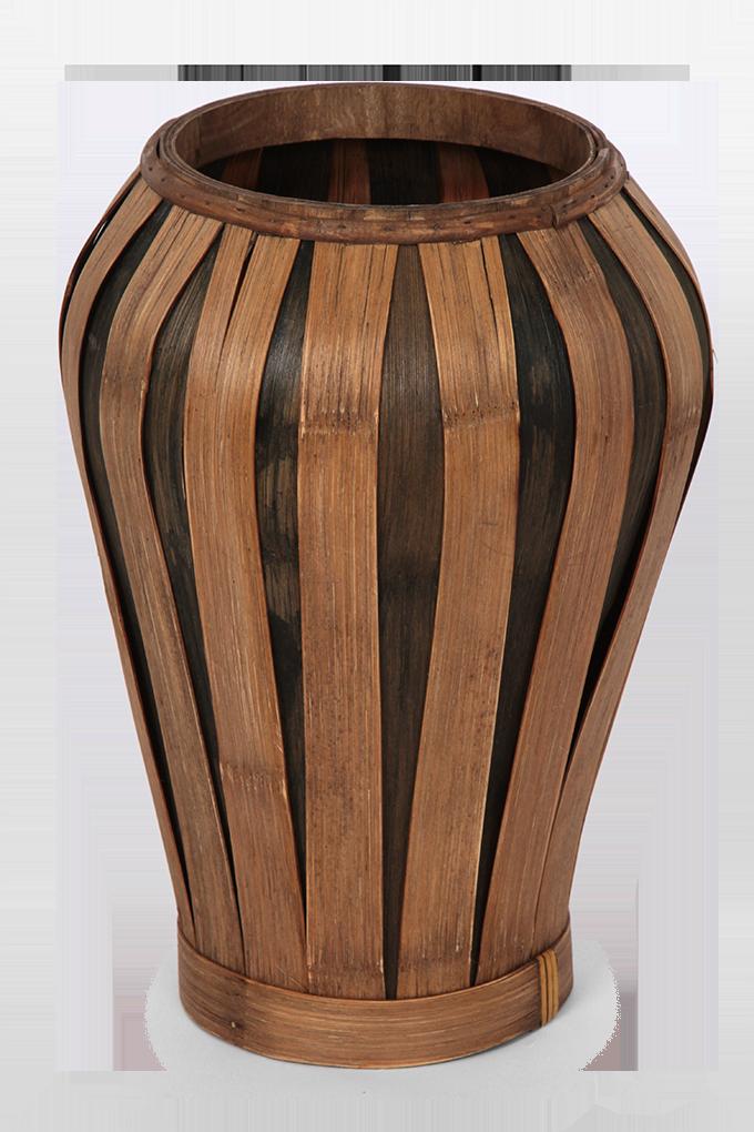 Váza z bambusové dýhy přírodní hnědá