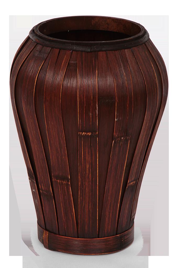 Váza z bambusové dýhy mahagonová