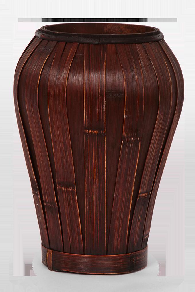 Váza z bambusové dýhy 34 cm