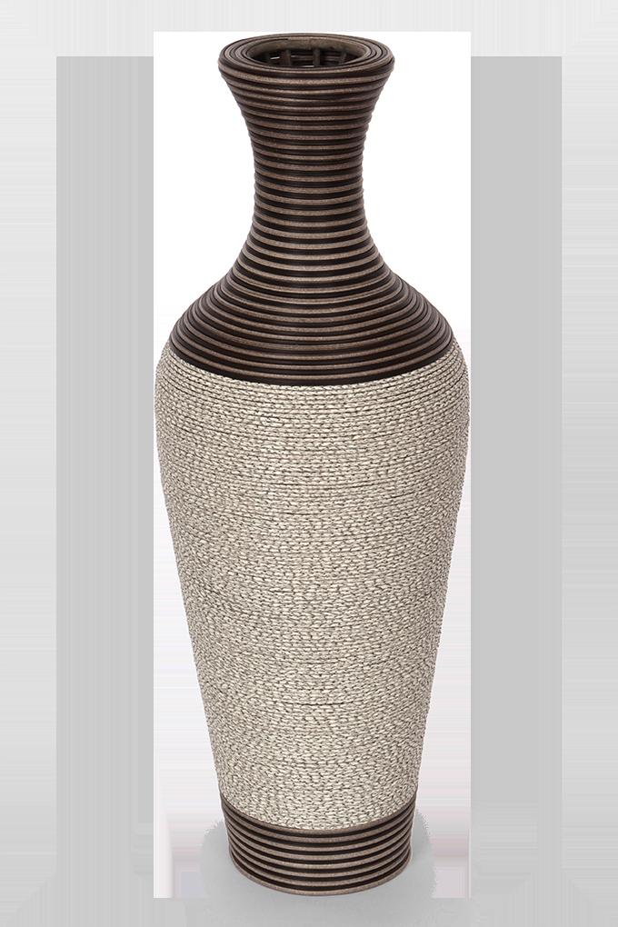 Váza ve tvaru amfory, šedo hnědá
