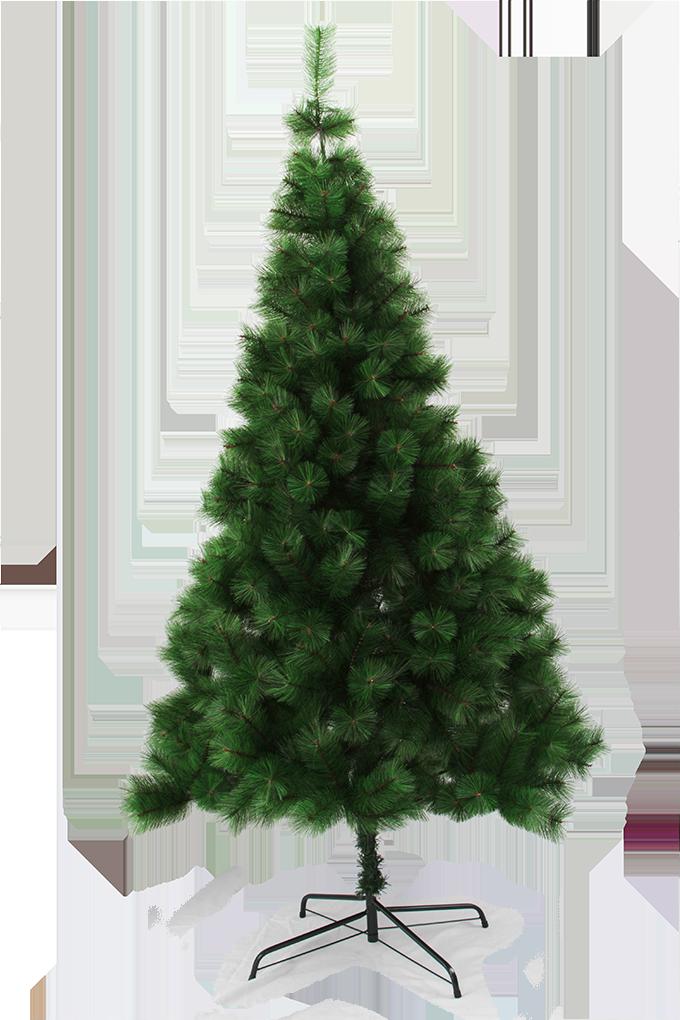 210 cm Vánoční stromek se stojanem, ZELENÁ BOROVICE