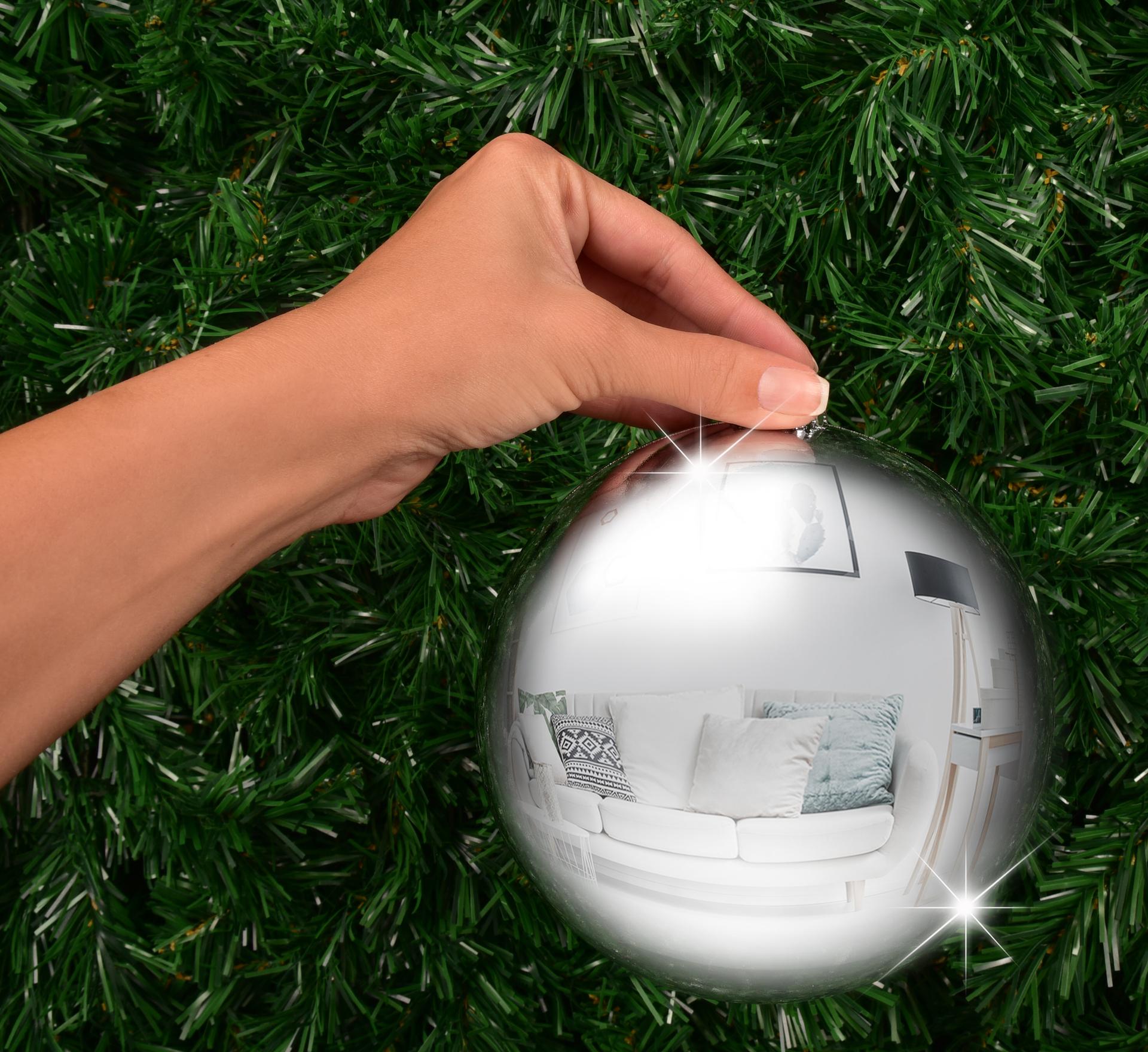 XXL koule 15 cm stříbrná