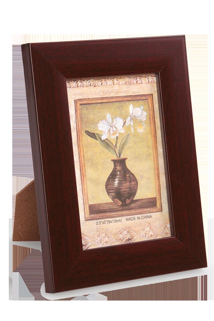 Dřevěný fotorámeček mahagonový na foto 9 x 13 cm