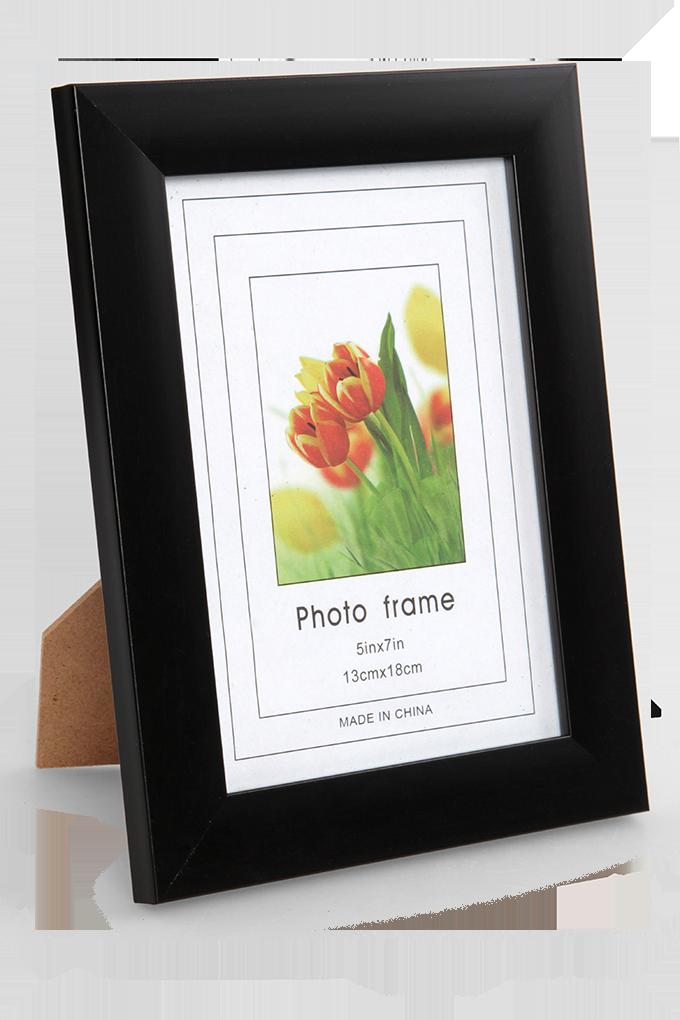 Dřevěný fotorámeček černý na foto 13 x 18 cm
