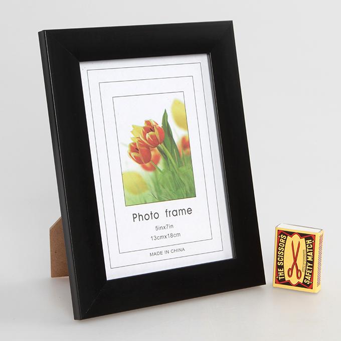 Dřevěný fotorámeček, černý