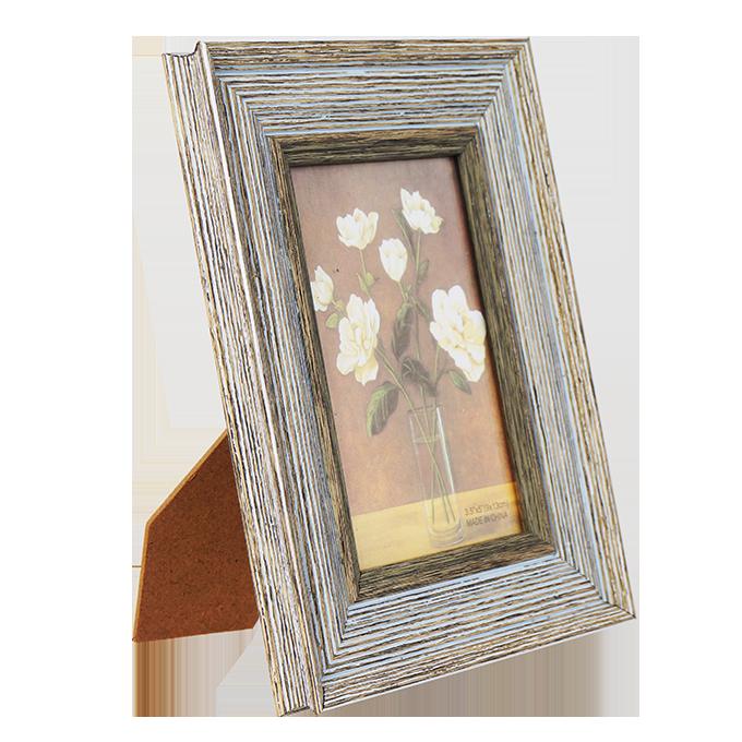 Dřevěný fotorámeček šedý na foto 9 x 13 cm