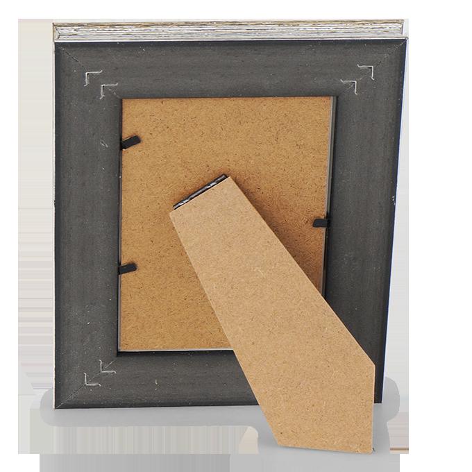 Dřevěný fotorámeček, šedý