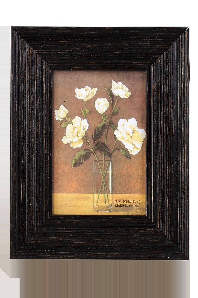 Dřevěný fotorámeček tmavě hnědý na foto 9 x 13 cm