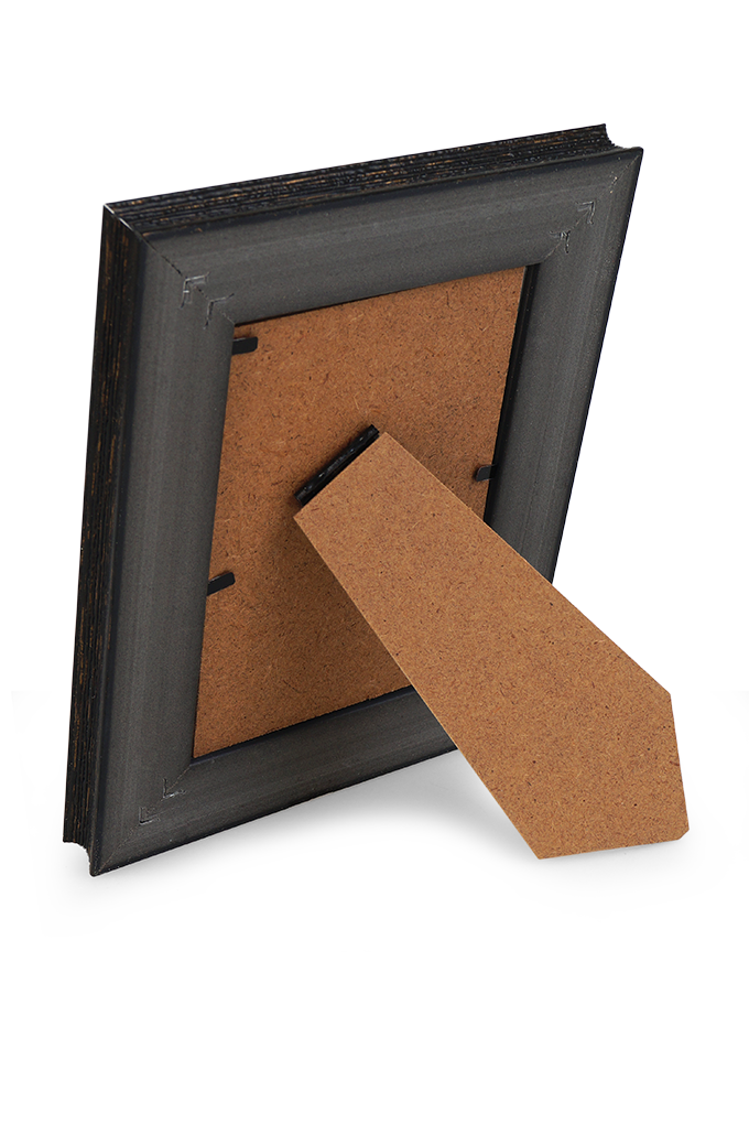 DA91971-Drevený fotorámček tmavo hnedý na foto 9 x 13 cm