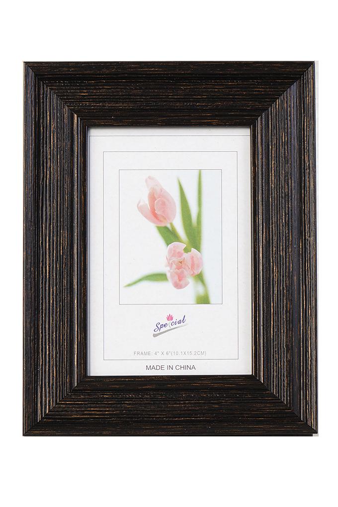 Dřevěný fotorámeček tmavě hnědý na foto 10 x 15 cm