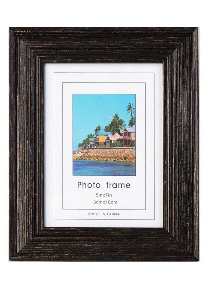 Dřevěný fotorámeček tmavě hnědý na foto 13 x 18 cm