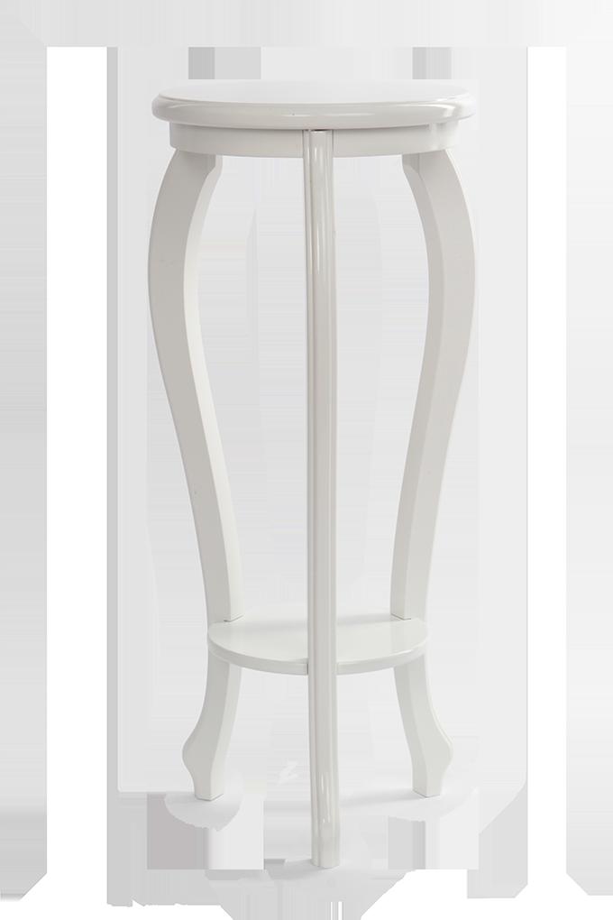 Dřevěný deko stolek, bílý