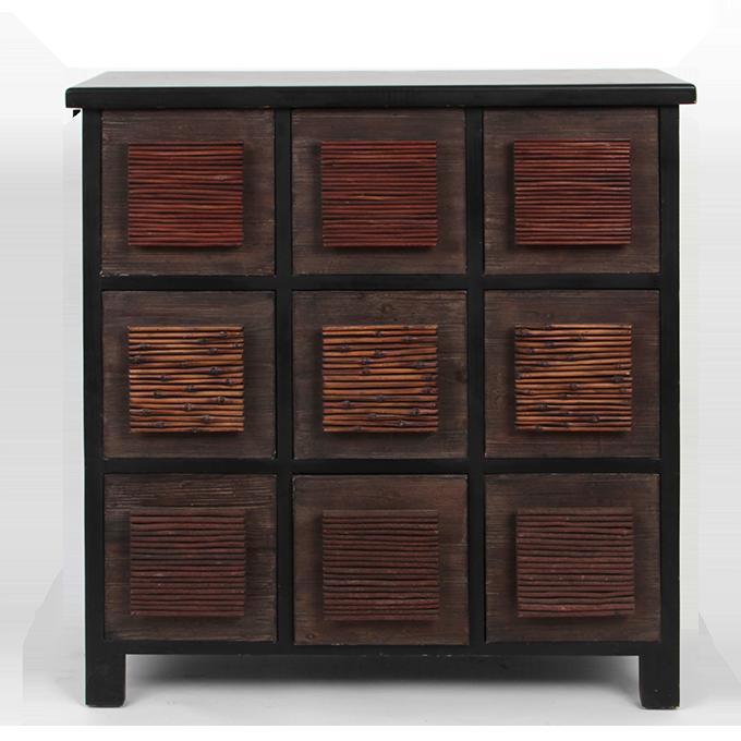Dřevěná komoda, tmavě hnědá