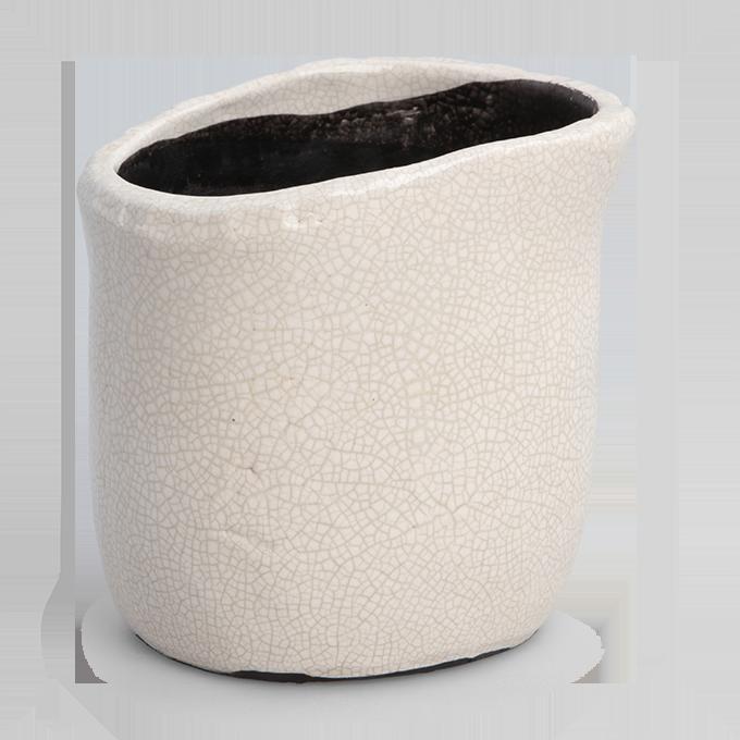 Keramický obal na květináč nebo váza výška 13,5 cm