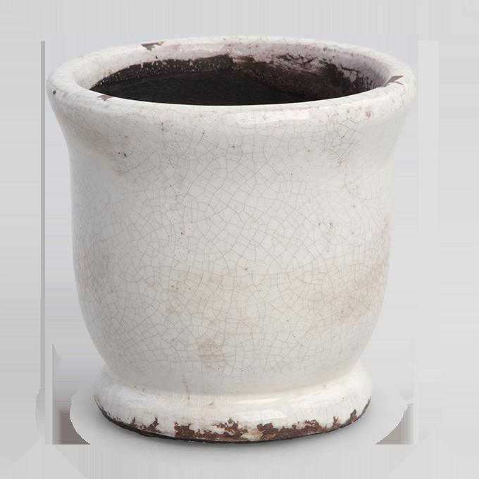 Keramický obal na květináč nebo váza výška 10,8 cm