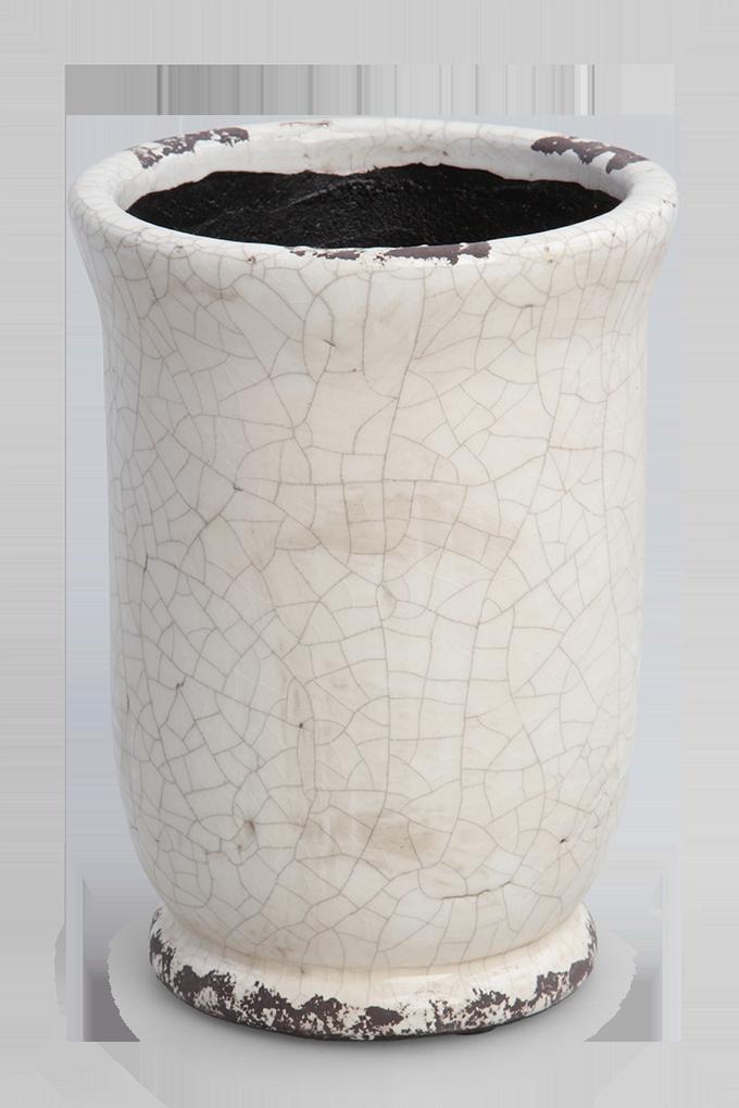 Keramický obal na květináč nebo váza výška 19,5 cm