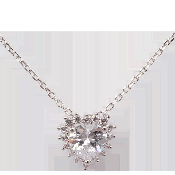 FC9219-Set náhrdelník a náušnice so zirkónmi rhodiováno