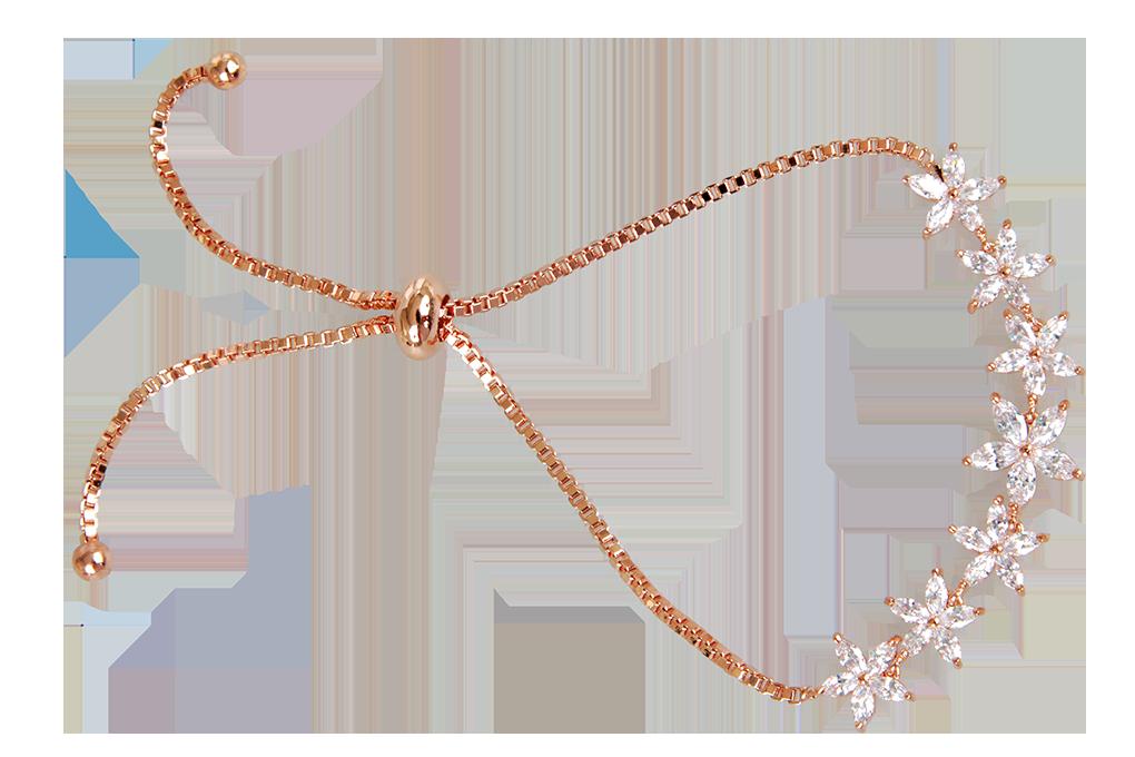 FC9230-Náramok na ruku so zirkónmi rhodiováno rosé