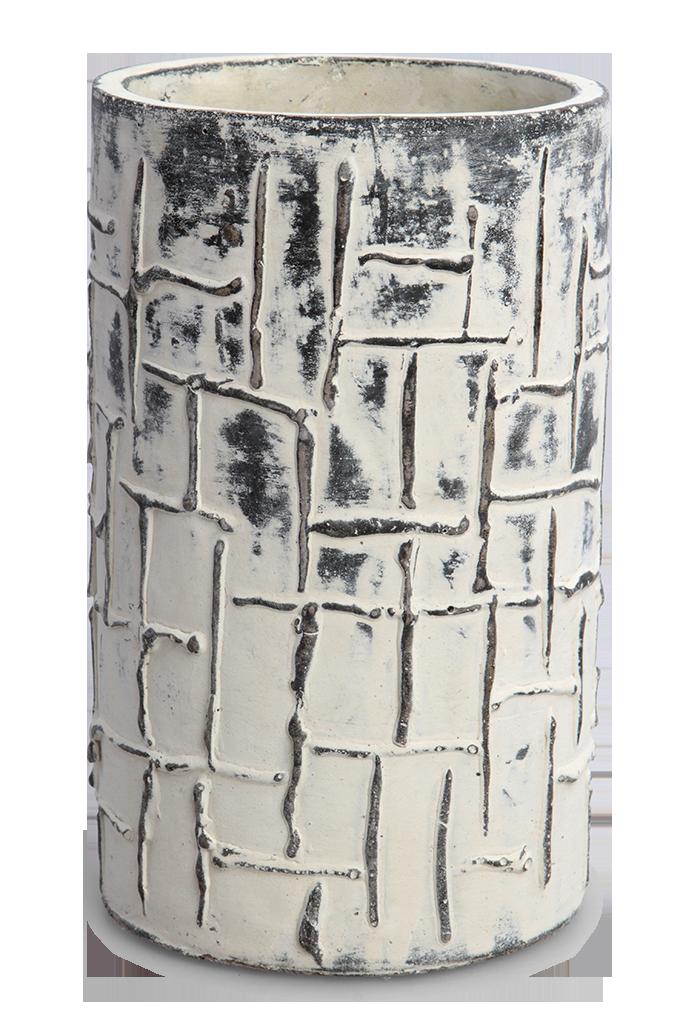 Keramická váza, masivní, výška 21 cm