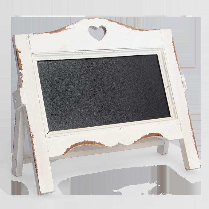 Dřevěná tabule na poznámky bílá