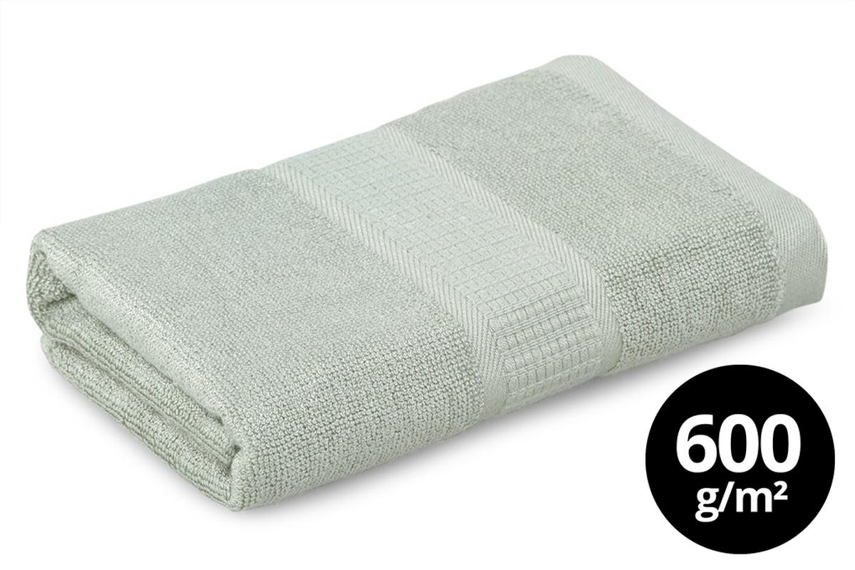BAMBOO ručník s elegantní bordurou olivový