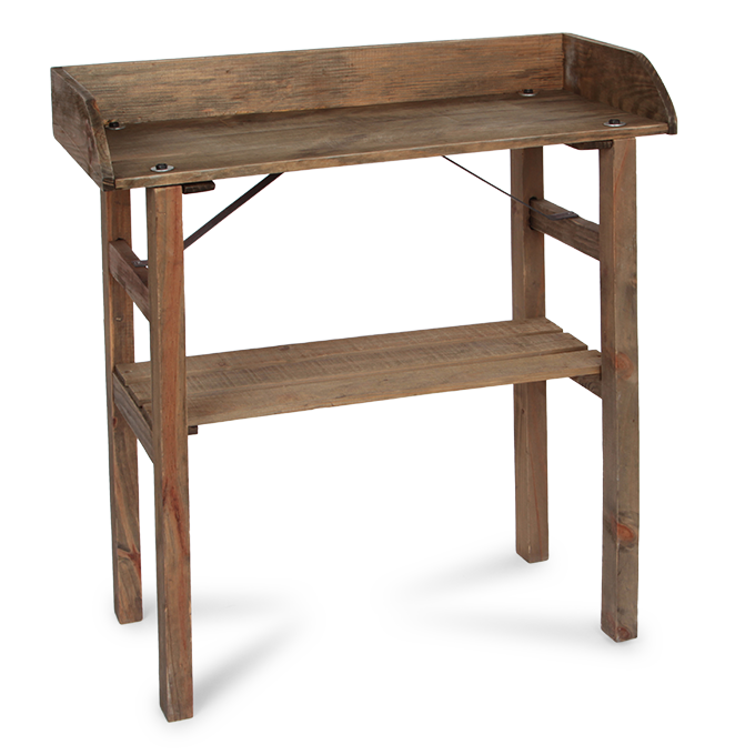 Dřevěný stolek, s pracovní deskou