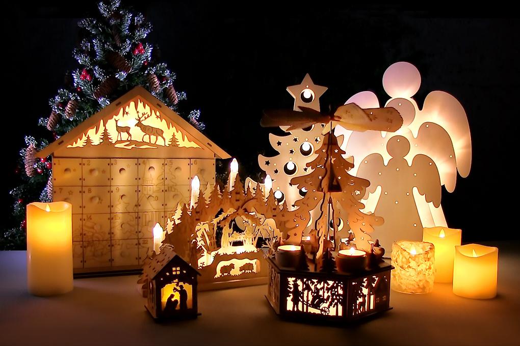Tančící LED svíce DANCING CANDLE SNOW