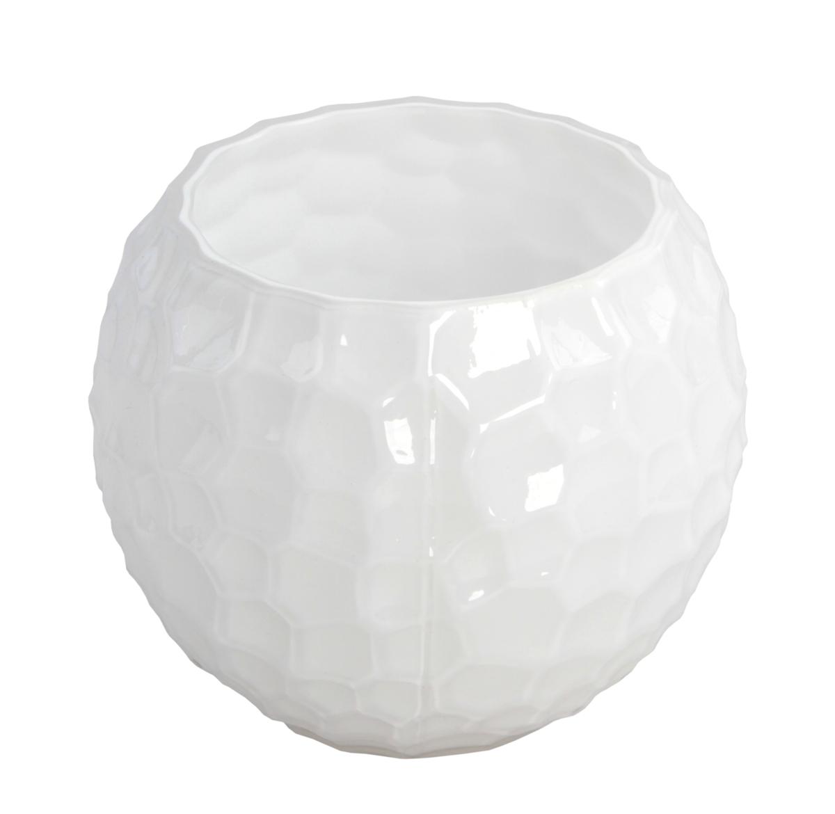 Skleněná váza/svícen, bílá