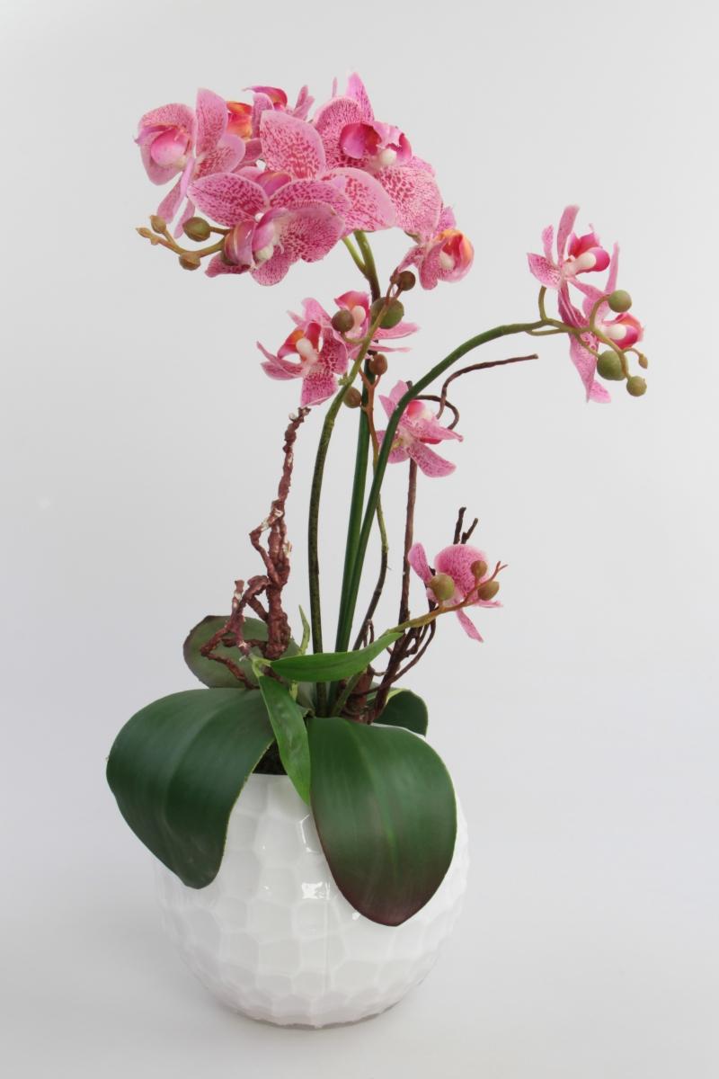 DA93381-Sklenená váza / svietnik biela