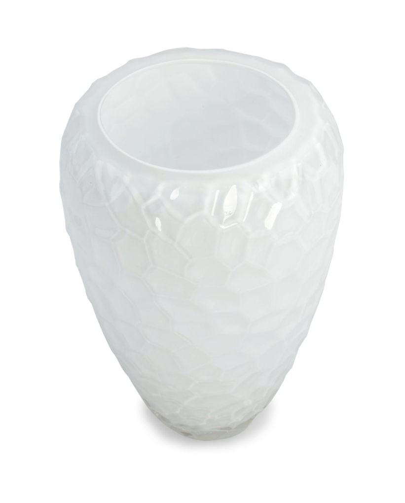 Sklenená váza vysoká