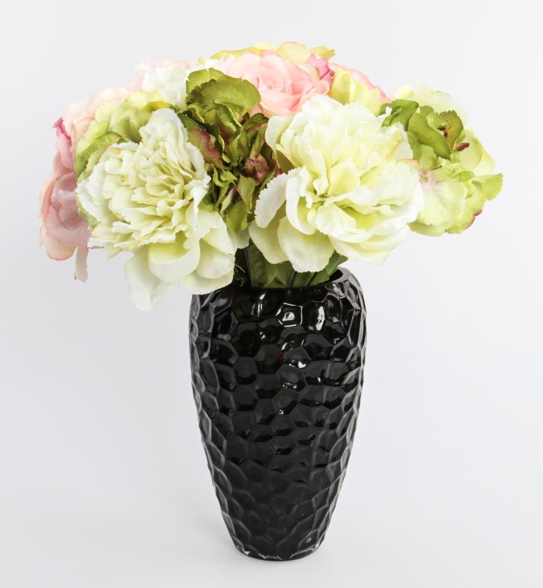 Vysoká skleněná váza 23 cm