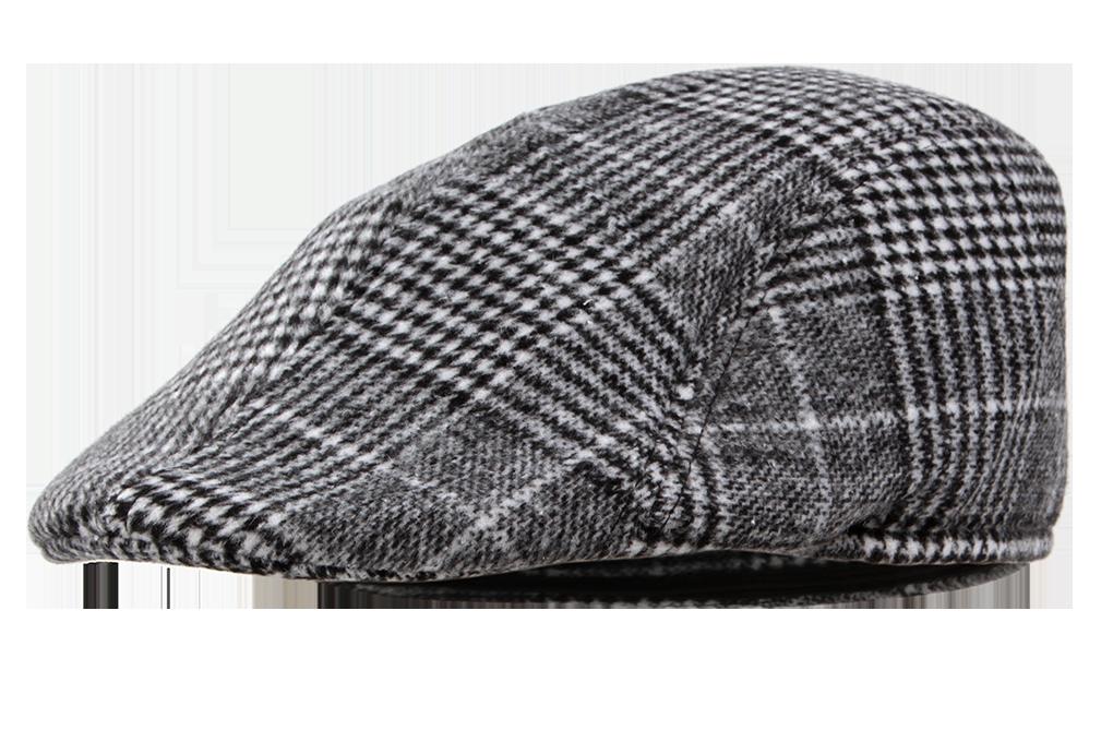 Bekovka čepice, šedočerné káro