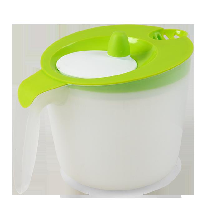Salátoždímadlo ruční odstředivka  2200 ml, zelená