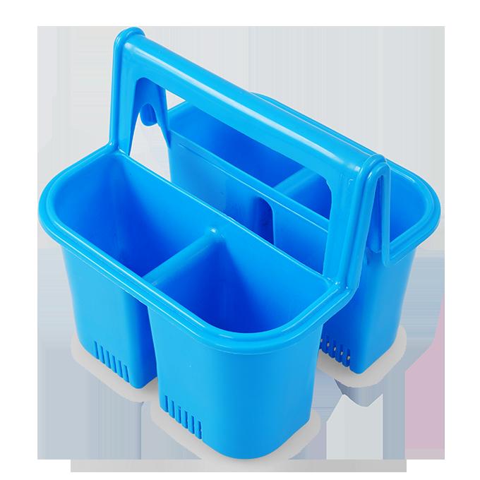 PŘÍBORNOŠ odkapávač i držák na příbory, modrý