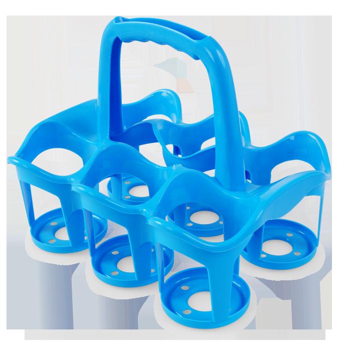 Vodneslahváč držák na 6 ks nápojů modrý