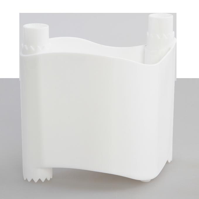 BYLINKOVÁ STĚNA stohovatelný květináč bílý, plastový