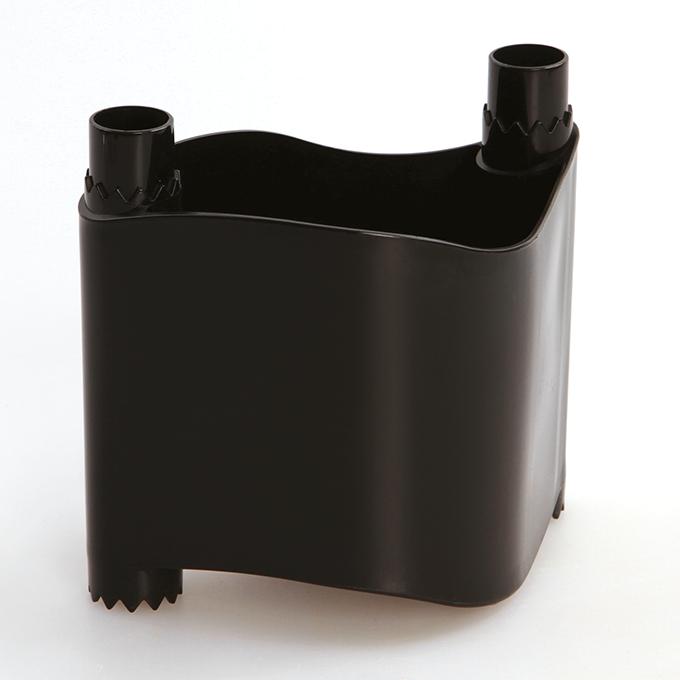 BYLINKOVÁ STĚNA stohovatelný květináč černý, plastový