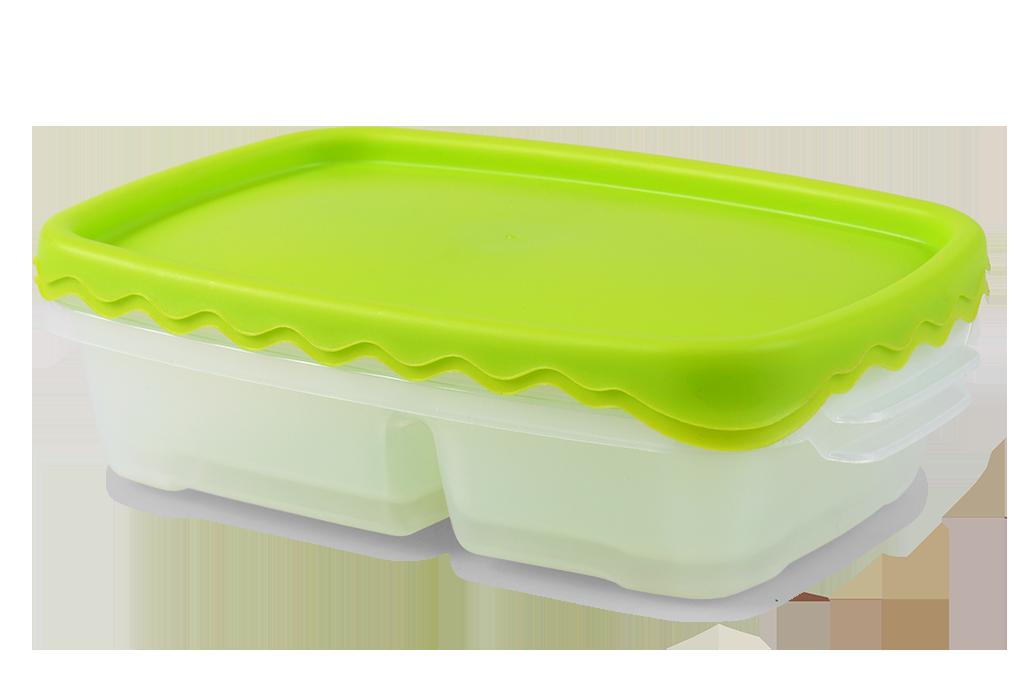 2ks dóza na potraviny DUOBOX, 500 + 300 ml