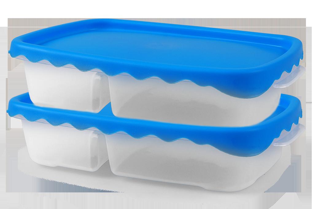 2ks DUOBOX 500 + 300 ml modrý
