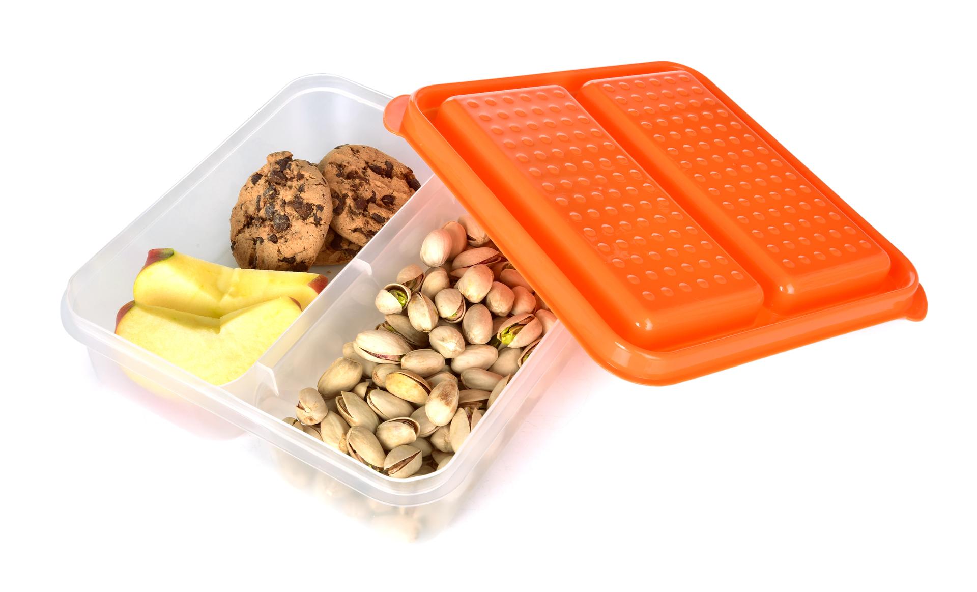 DA94044-DUOBOX 2in 1 500 + 500 ml dóza na potraviny, oranžový