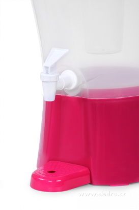 DA89803-XXL Čepochladník dávkovač nápojov 8 l ružový